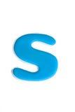 蓝色字母S 免版税库存图片