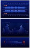 蓝色实验室声音 库存例证