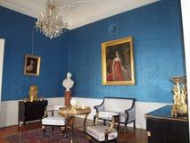 蓝色室在Festetics宫殿,凯斯特海伊 库存图片