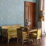 蓝色室Vorontsovsky宫殿的内部 免版税图库摄影