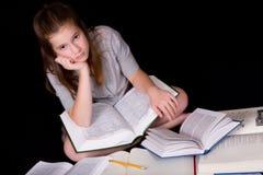 蓝色家庭作业 库存图片