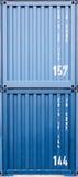 蓝色容器样式 免版税库存图片