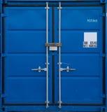蓝色容器运费 库存图片