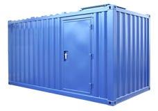 蓝色容器 免版税库存照片