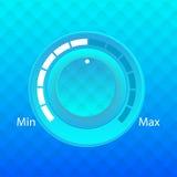 蓝色容量按钮控制音乐播放器传染媒介 库存图片