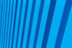 蓝色对角条纹现代背景 免版税库存照片