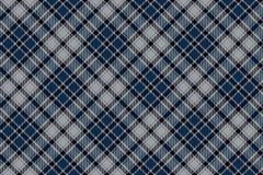 蓝色对角格子花呢披肩无缝的织品样式 库存图片