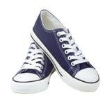 蓝色对运动鞋 库存图片