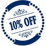 蓝色封印的10% 免版税库存图片