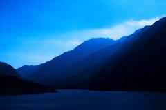 蓝色小山 库存照片
