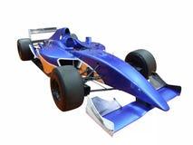蓝色小汽车赛 图库摄影
