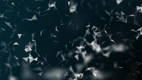 蓝色小点抽象未来派几何结节数字网和空白线路、小点、三角和结 计算机网络Singl 皇族释放例证