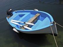 蓝色小船 库存照片