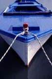 蓝色小船 库存图片