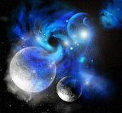 蓝色尘土行星空间 库存图片