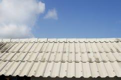 蓝色屋顶天空板岩 图库摄影