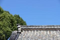 蓝色屋顶天空 库存图片