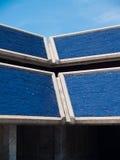 蓝色屋顶 免版税库存照片
