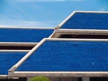 蓝色屋顶 免版税库存图片