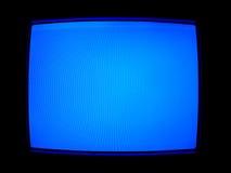 蓝色屏幕电视 免版税图库摄影