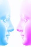 蓝色屏蔽粉红色 向量例证