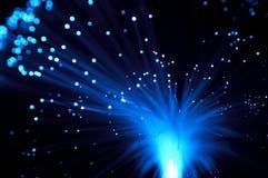 蓝色展开光芒 库存照片