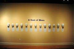 蓝色展览,海伦娜阿肯色塑象在三角洲文化博物馆的 库存图片