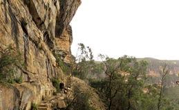蓝色山国家公园, NSW,澳洲 免版税库存照片