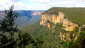 蓝色山国家公园, NSW,澳洲 免版税库存图片