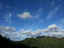 蓝色山天空 图库摄影
