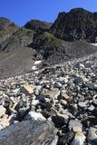 蓝色山峰天空 库存照片