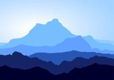 蓝色山 免版税库存照片