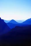 蓝色山 免版税库存图片