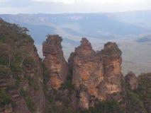 蓝色山Nationalpark在澳大利亚 库存图片