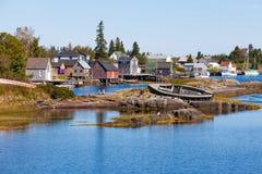 蓝色岩石新斯科舍NS加拿大渔村  库存图片