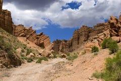 蓝色峡谷干净的天空 免版税库存图片