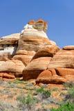 蓝色峡谷,亚利桑那 免版税库存照片