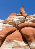 蓝色峡谷,亚利桑那 免版税图库摄影