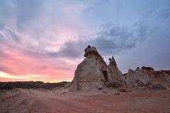蓝色峡谷,莫恩科皮洗涤的部分在东北亚利桑那 免版税库存照片