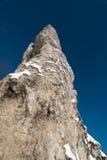 蓝色峭壁严重的纯粹天空 免版税库存照片