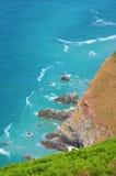 蓝色峭壁海运 免版税库存照片