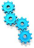 蓝色嵌齿轮 库存例证