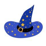 蓝色巫术师的帽子 库存图片