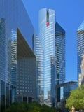 蓝色巴黎skyscrappers 库存图片