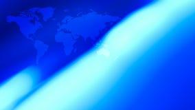 蓝色布局未来派世界地图背景 皇族释放例证