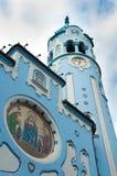 蓝色布拉索夫教会 免版税库存图片