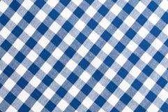 蓝色布料模式白色 库存照片