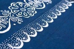 蓝色布料表 免版税库存图片