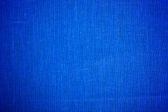 蓝色布料织品背景特写镜头 免版税库存照片