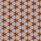 蓝色布朗万花筒样式 免版税库存照片